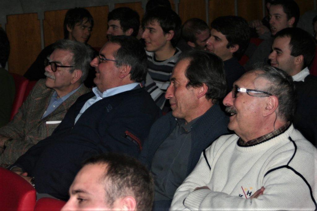 Natale 2015 al Gregorianum: Gianfranco Granello, Alberto Scarpis, Renato Marangoni e Fernando Del Maschio
