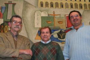 2007: Gianfranco Granello al Gregorianum con padre Amelio ed il suo successore Alberto Scarpis